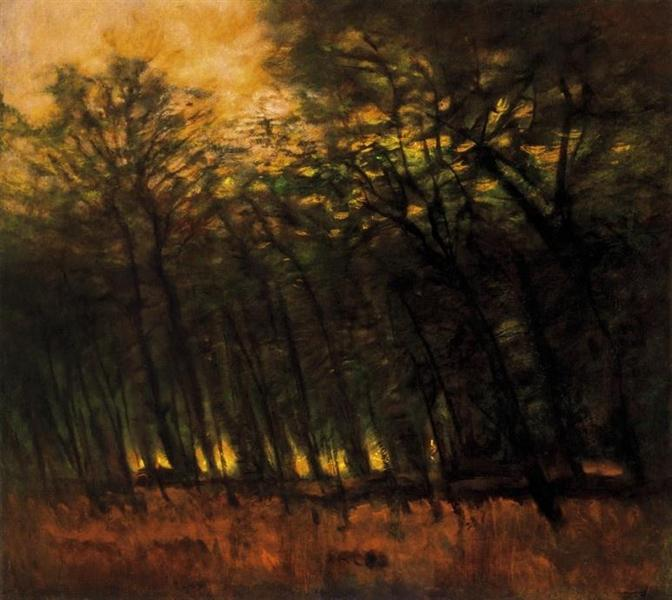 Fires in the Forest - Laszlo Mednyanszky