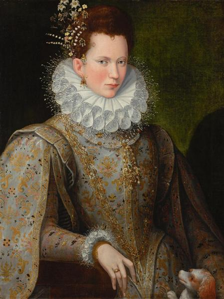 Portrait of a Lady of the Court, 1590 - Lavinia Fontana