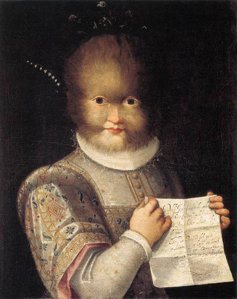 Portrait of Antonietta Gonzalez, 1595 - Lavinia Fontana