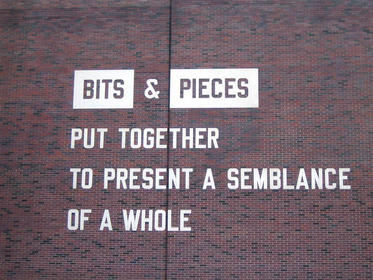 Bits & Pieces Put Together to Present a Semblance of a Whole, c.2005 - Lawrence Weiner