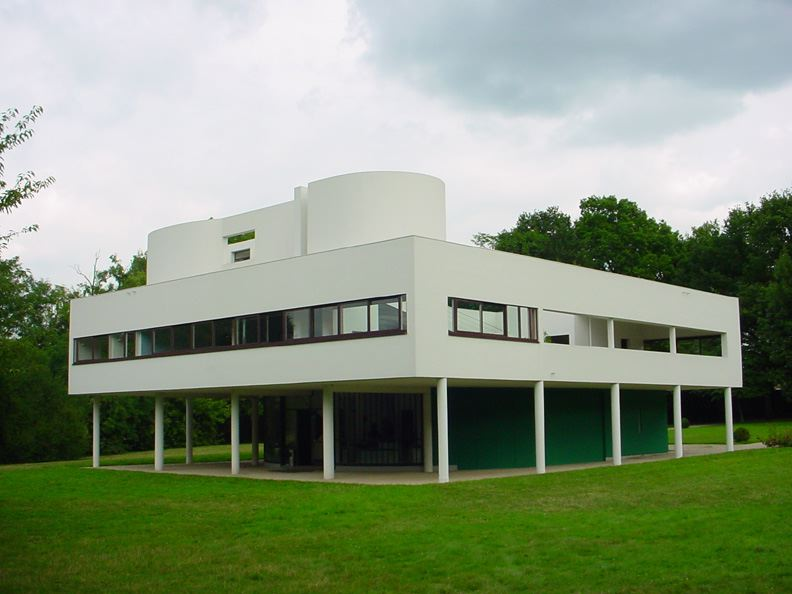 Villa savoye in poissy le corbusier for Poissy le corbusier