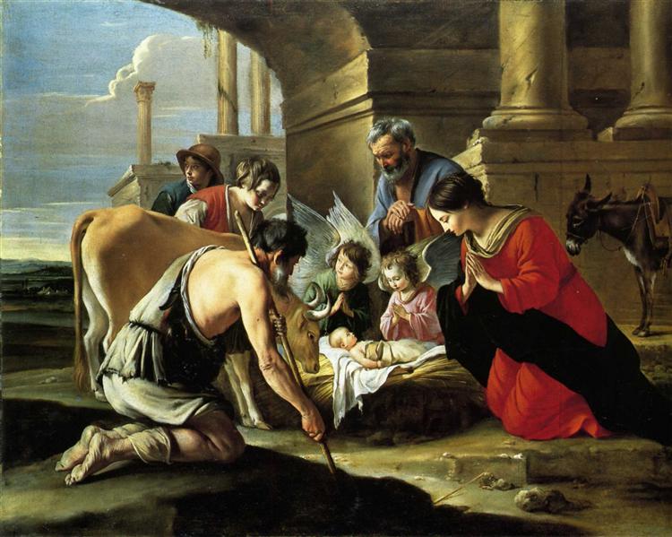 Adoration of the Shepherds, c.1640 - Le Nain (Irmãos Le Nain)
