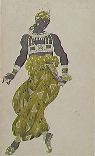 NegrogoldDrawing Shéhérazadecostume,balletDiaghilev, 1910 - Leon Bakst