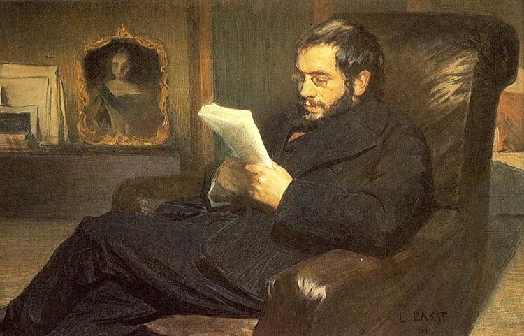 Portrait of Alexandre Benois - Leon Bakst