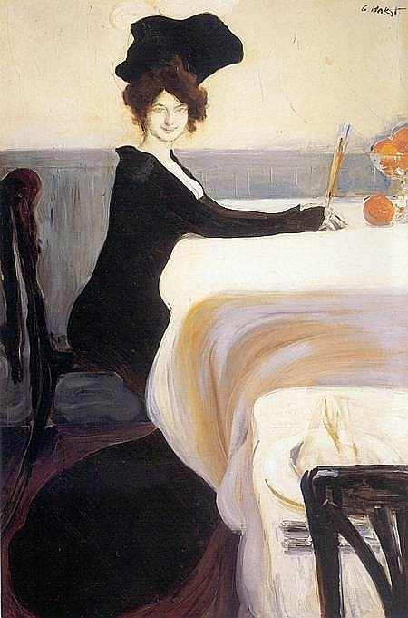 Ужин - Леон Бакст - WikiArt.org: www.wikiart.org/ru/leon-bakst/the-supper-1902