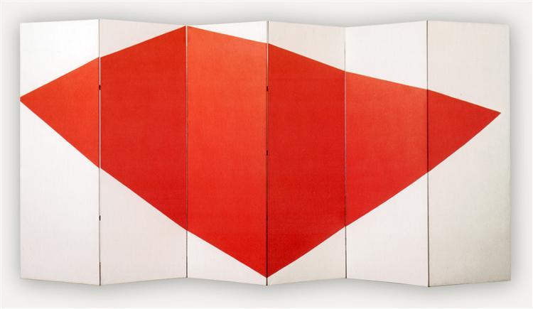 Correspondence Red-White, side B, 1966 - Leon Polk Smith