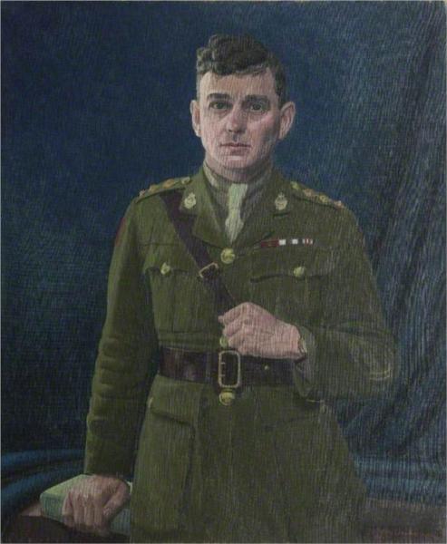 Captain George Burdon McKean (1888–1926), VC, MC, 14th Battalion Canadian Infantry, 1919 - Leon Underwood