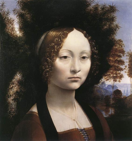 Portrait of Ginevra Benci, c.1474 - Leonardo da Vinci