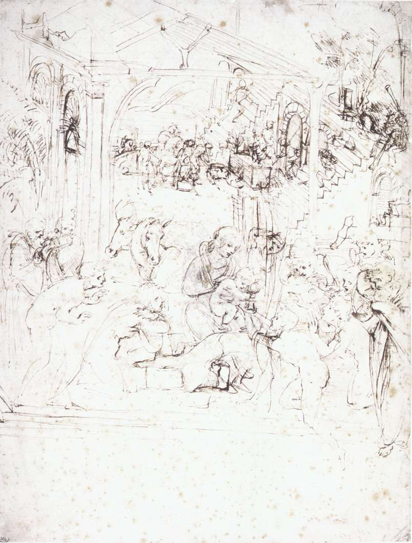 Study for the Adoration of the Magi, 1480
