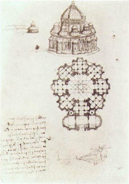 Study of a central church, c.1488 - Leonardo da Vinci