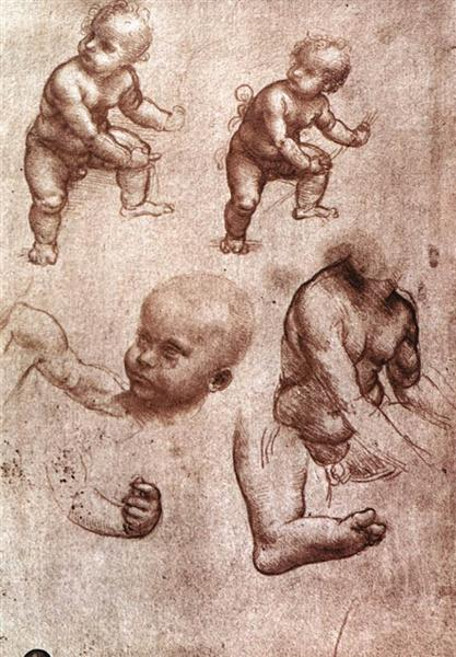 Study of a child, c.1508 - Leonardo da Vinci