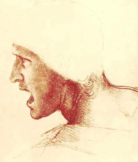 Study of a Figure for the Battle of Anghiari, 1504 - 1505 - Leonardo da Vinci