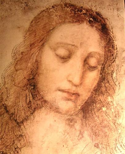 Study of Christ for the Last Supper - Leonardo da Vinci