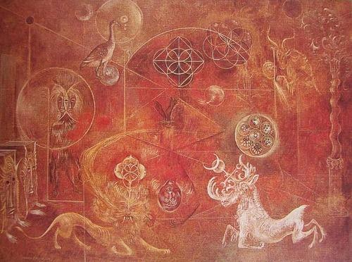 The Burning of Giordano Bruno, 1964 - Leonora Carrington