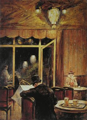Abend im Café Bauer (Evening at the Café Bauer).