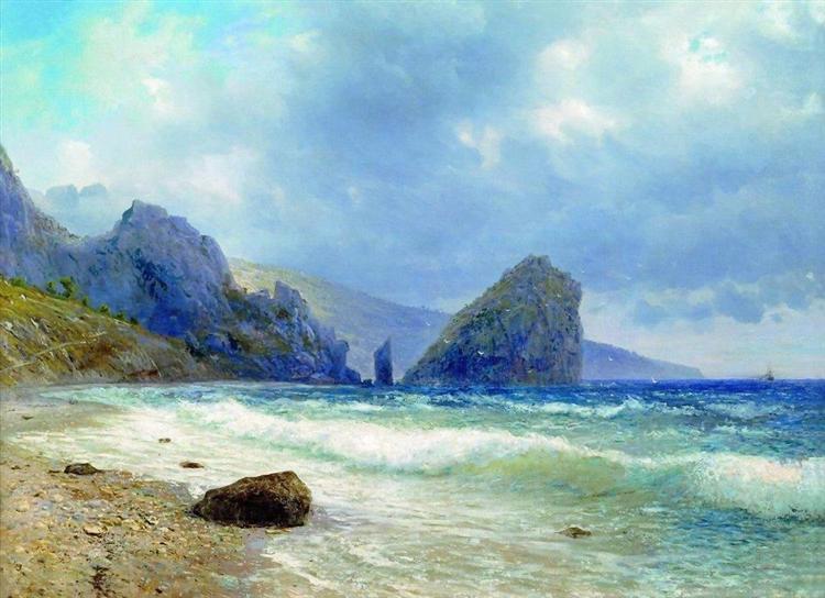 Crimea. Monk and Diva Rocks., 1890 - Lev Lagorio