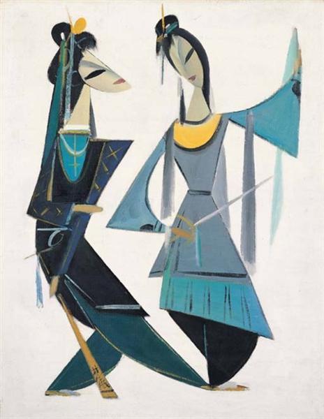 Chinese opera series: Madame Snake White - Lin Fengmian