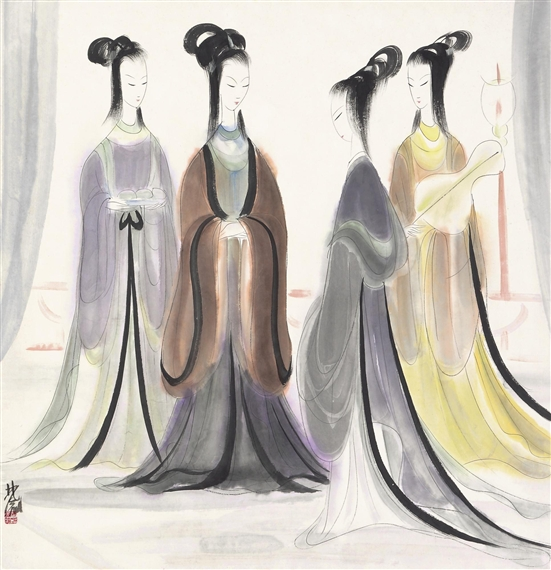 Four Beauties - Lin Fengmian