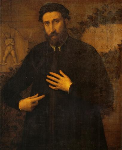 Portrait of a 37 years old  man  - Lorenzo Lotto