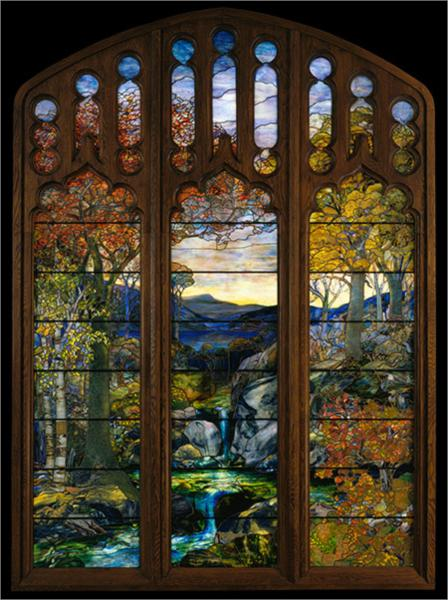 Autumn Landscape 1924 Louis Comfort Tiffany Wikiart Org