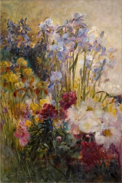 Peonies And Iris 1915 Louis Comfort Tiffany Wikiart Org