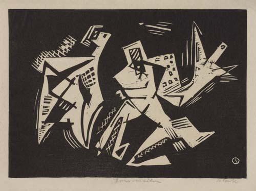 Forms in Action, 1941 - Louis Schanker