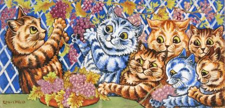 IN THE VINEYARD - Louis Wain