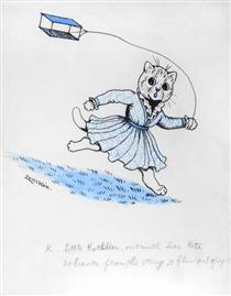 K. LITTLE KATHLEEN, OUT WITH HER KITE, IT BROKE FROM THE STRING, AND FLEW OUT OF SIGHT - Луис Уэйн