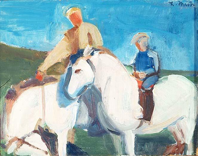 Á hestbaki, 1978 - Louisa Matthiasdottir