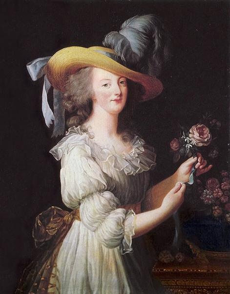 Marie Antoinette in a Muslin dress, 1783 - Louise Elisabeth Vigee Le Brun