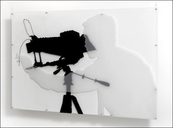 Sombra projectada de Andre Morain, 1967 - Lourdes Castro