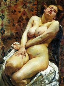 Nana-Female Nude - Lovis Corinth