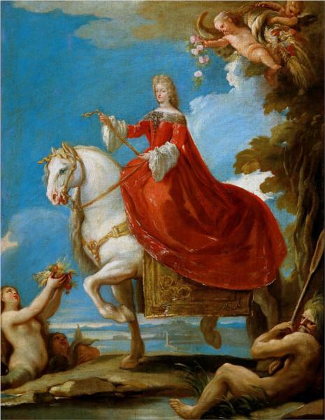"""Лука Джордано """"Портрет Марии Анны Нойбургской"""" 1694"""