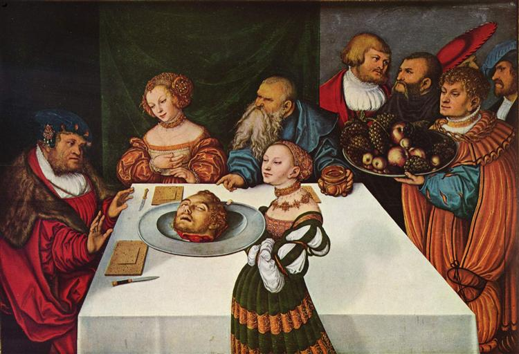 Feast of Herod, 1531 - Lucas Cranach the Elder