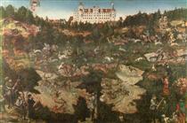 Охота в честь Карла V в замке Торгау - Лукас Кранах Старший