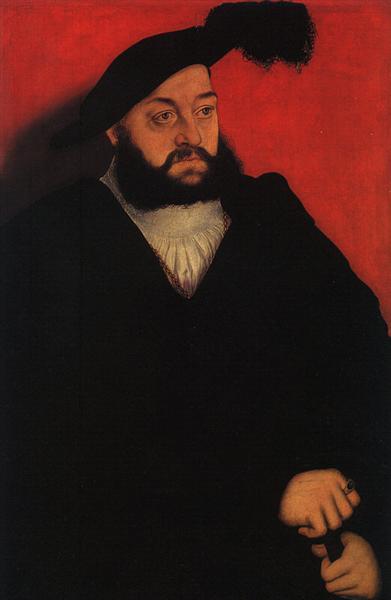 Johann , Herzog von Sachsen, c.1534 - c.1537 - Lucas Cranach der Ältere