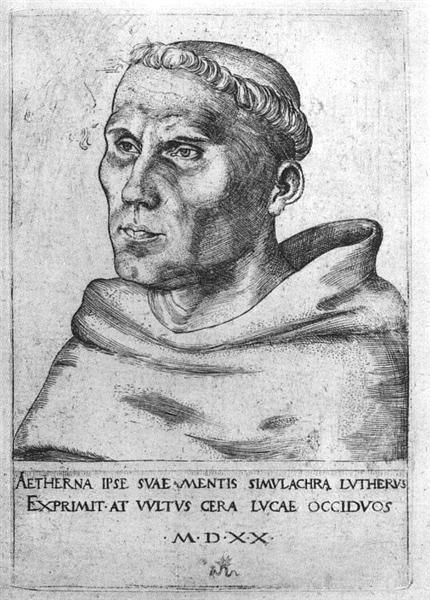 Martin Luther as a Monk, 1520 - Lucas Cranach der Ältere