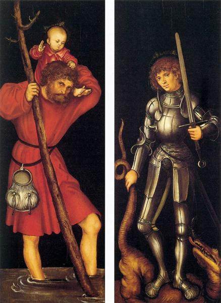 St. Christopher and St. George, c.1514 - Лукас Кранах Старший