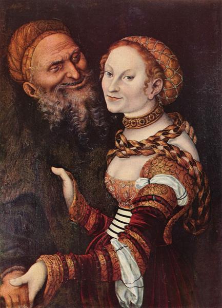 The old man in love, c.1517 - Lucas Cranach the Elder