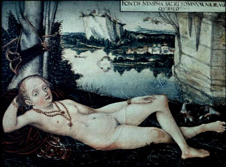 Water Nymph Resting, c.1530 - Лукас Кранах Старший