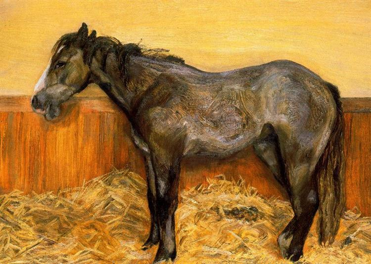 A Filly, 1970 - Lucian Freud