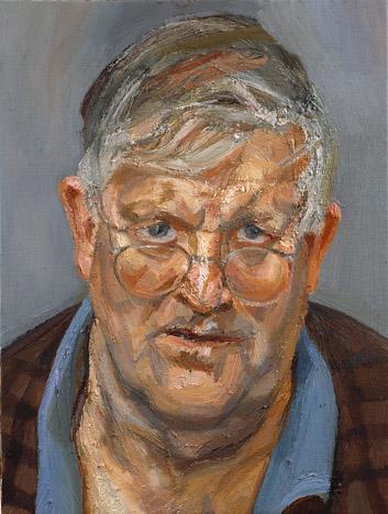 David Hockney, 2002 - Lucian Freud