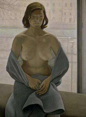 Girl in a Blanket - Lucian Freud