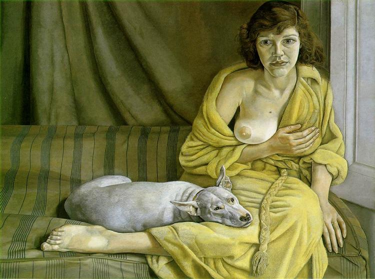 Girl with a White Dog - Freud Lucian