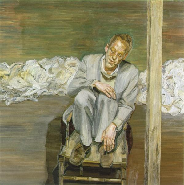 Red Haired Man on a Chair - Freud Lucian