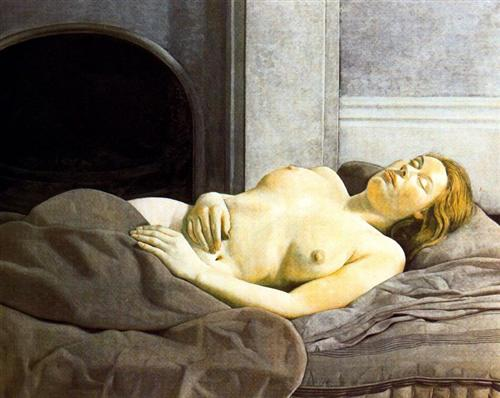 Sleeping Nude - Lucian Freud
