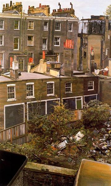 Пустырь с домами, Паддингтон, 1970 - 1972 - Люсьен Фрейд