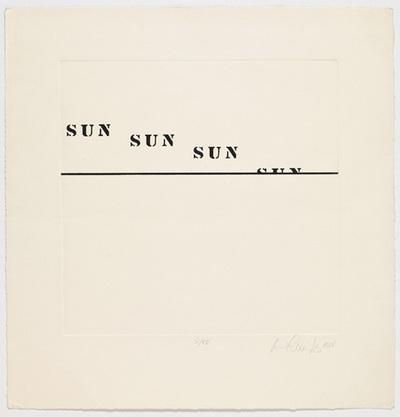 Sunset - Luis Camnitzer