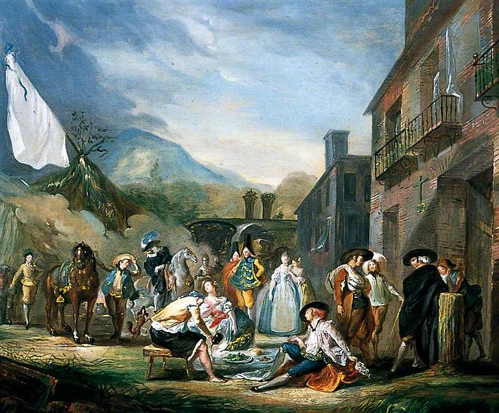 A Picnic at a Country Town, 1773 - Luis Paret y Alcazar