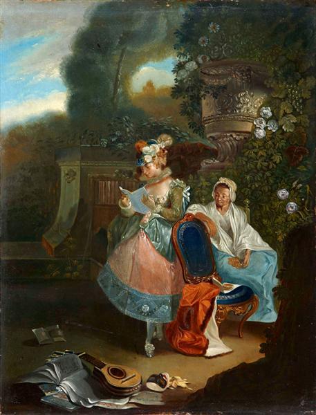 La carta, 1772 - Luis Paret y Alcazar